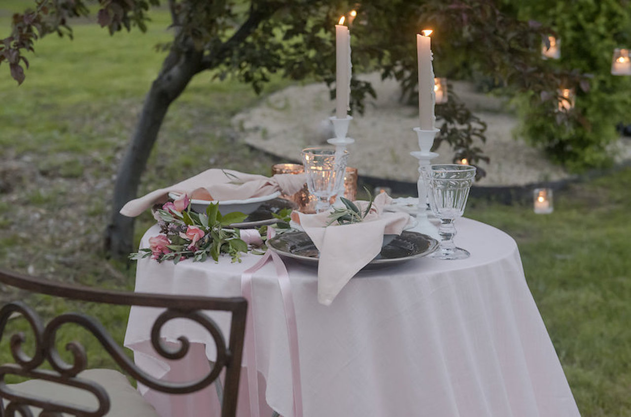 A lover's table set up for an elopement wedding