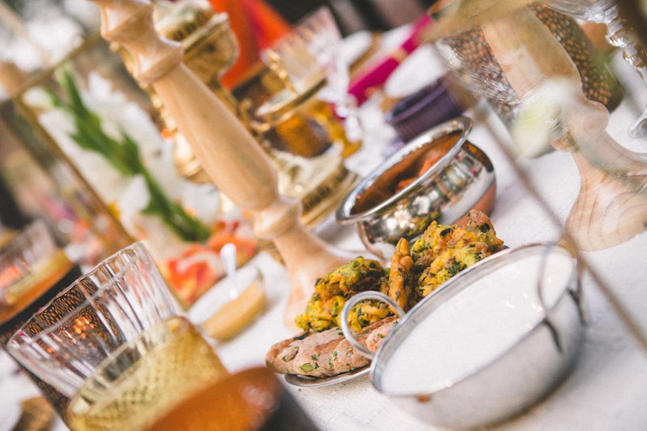 An Indian wedding buffet