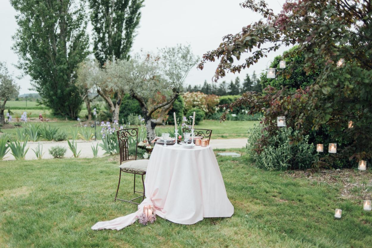 A private table outside for an engagement